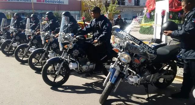 Entrega alcalde de San Pedro, siete motocicletas para aumentar seguridad