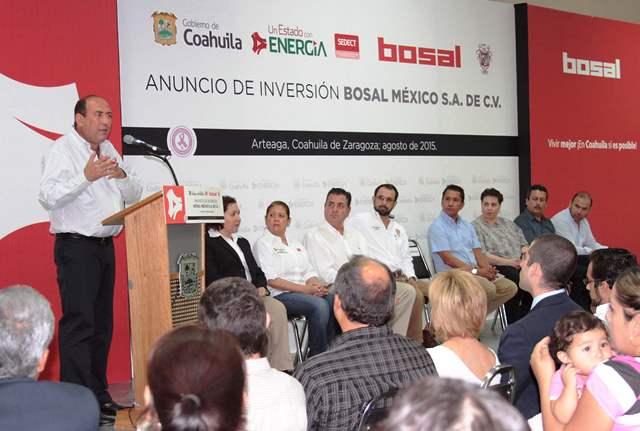 Anuncia más inversión y más empleo para Coahuila: Gobernador