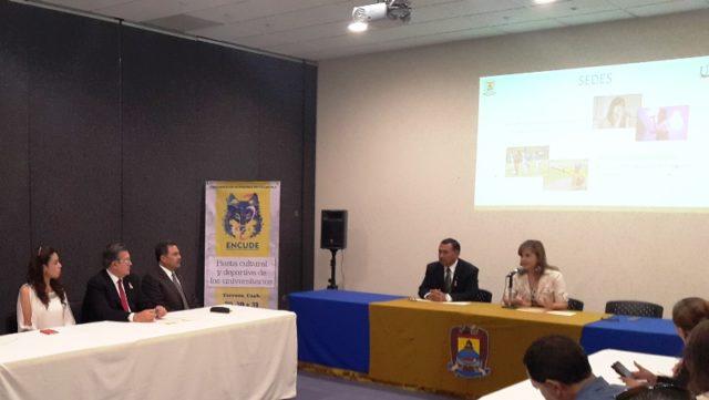 Rueda de prensa el programa de actividades del 8° Encuentro Cultural y Deportivo ENCUDE 2015 a celebrarse los días 29, 30 y 31 de octubre en la Unidad Torreón.