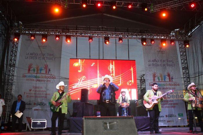 """Asisten más de medio millón de laguneros a festival """"La Calle es de Todos"""" en Coahuila"""