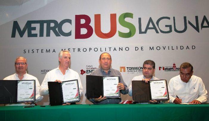Se presentó el proyecto del Metrobús Laguna, Sistema Metropolitano de Movilidad