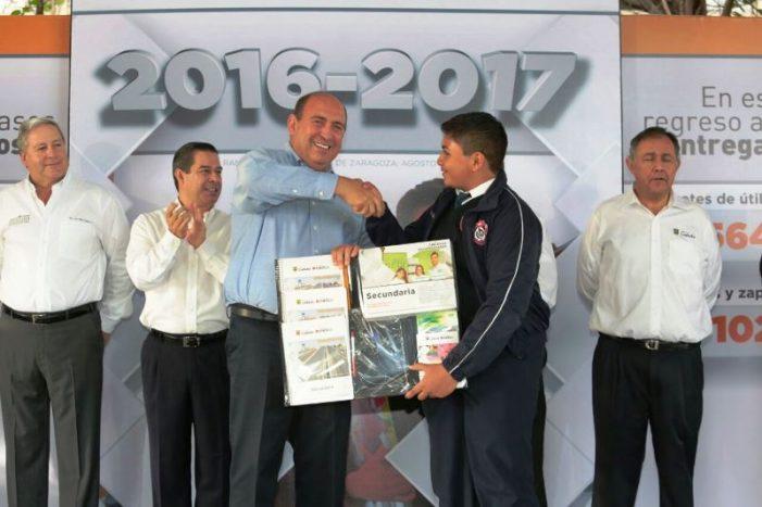 En el regreso a clases se apoya a las familias con más de 140 mdp: Gobierno de Coahuila