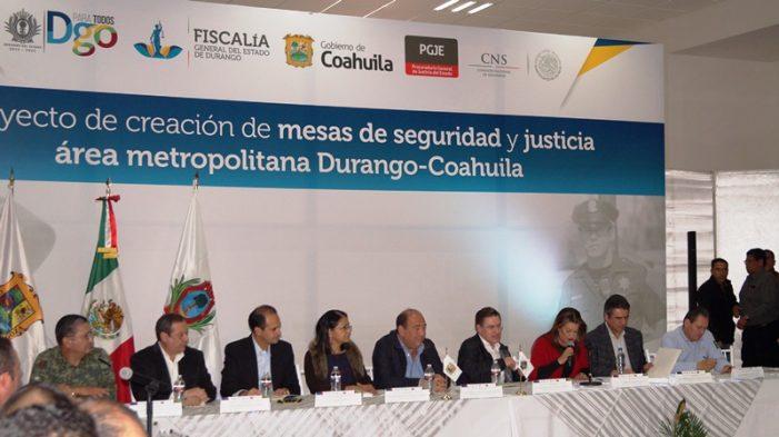 Instalan primera de mesa de seguridad y justicia de Gómez Palacio y Lerdo