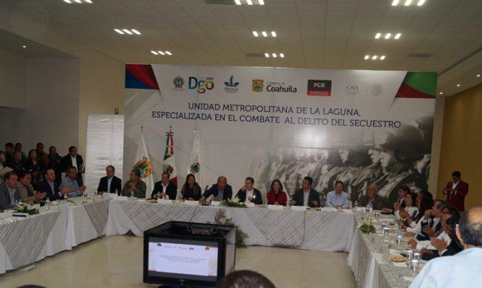 Gobernadores de Coahuila y Durango ponen en marcha Unidad Antisecuestro
