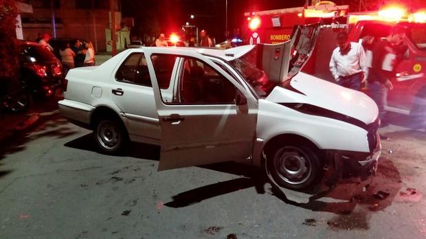 Accidente vial deja tres personas graves