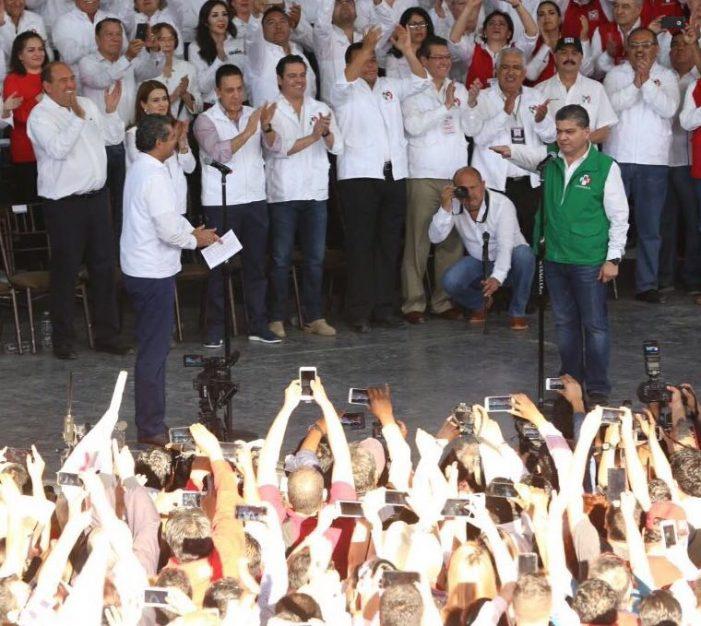 Protesta Miguel Ángel Riquelme como candidato del PRI a gobernador