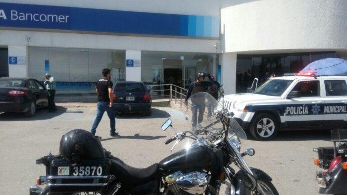 Movilización policíaca tras asalto a cuentahabiente