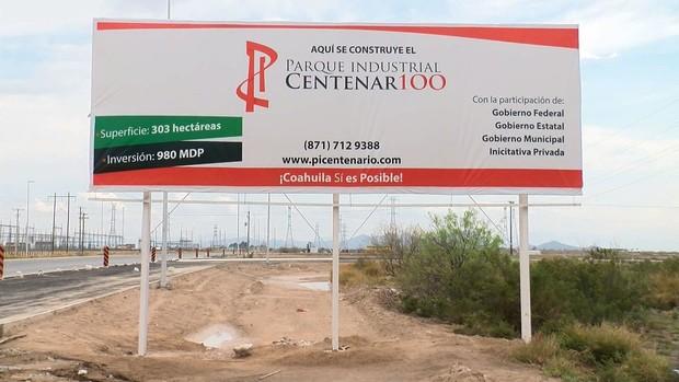 Sin avance obras en nuevo parque industrial de Torreón