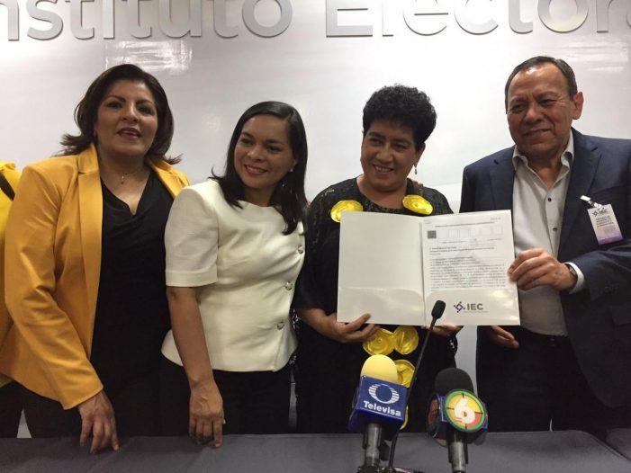 Marythelma registra su candidatura a gubernatura por Coahuila