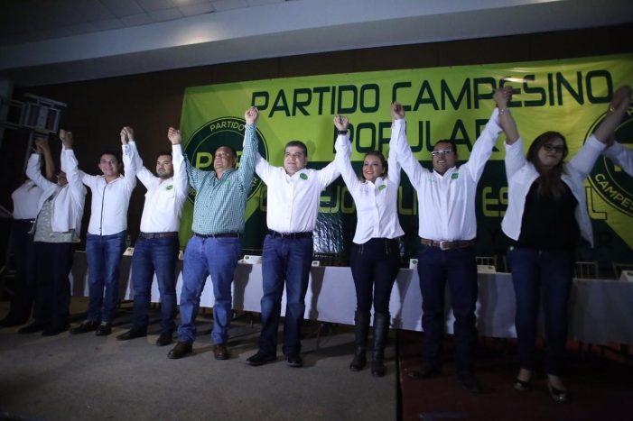Miguel Riquelme toma protesta como candidato del PCP