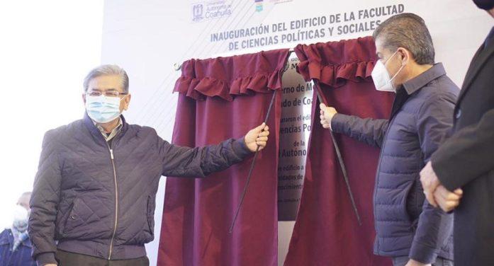Inauguran edificio de la facultad de ciencias políticas y sociales de la UAdeC