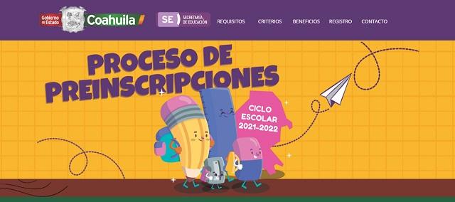 Preinscripciones a primaria en Coahuila del 8 al 19 de febrero